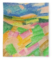 Summer Fields  Fleece Blanket