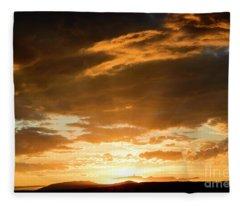 Sun Rays II Fleece Blanket