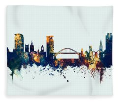 Sunderland England Skyline Fleece Blanket