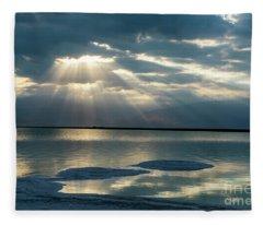 Sunrise At The Dead Sea Fleece Blanket