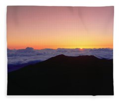 Sunrise Over Haleakala Volcano Summit Fleece Blanket