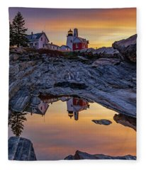 Sunrise At Pemaquid Point II Fleece Blanket