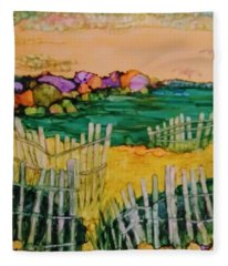 Sunset Beach Fleece Blanket