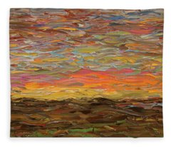 Sunset Fleece Blanket