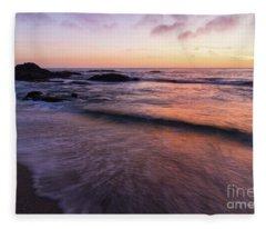 Sunset Over Laguna Beach   Fleece Blanket