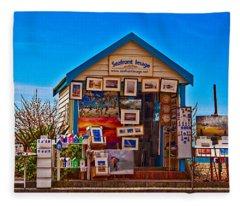 Seafront Image Fleece Blanket