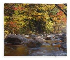 Swift River - White Mountains New Hampshire Usa Fleece Blanket