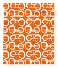 Tangerine Loop Fleece Blanket