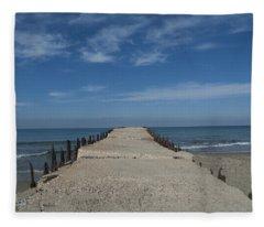 Tel Aviv Old Port 3 Fleece Blanket