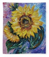 That Sunflower From The Sunflower State  Fleece Blanket