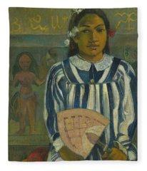 The Ancestors Of Tehamana Fleece Blanket