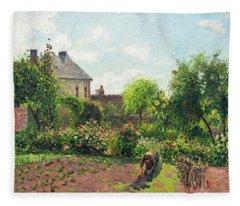 The Artist's Garden At Eragny Fleece Blanket