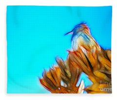 The Cactus Wren Fleece Blanket