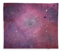 Fleece Blanket featuring the painting the Calm by Michael Lucarelli