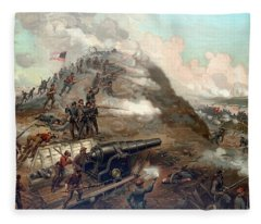 The Capture Of Fort Fisher Fleece Blanket