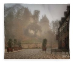 The Castle In The Myst Fleece Blanket