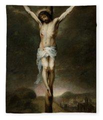 The Crucifixion Fleece Blanket