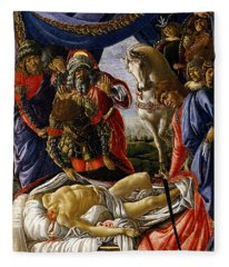 The Discovery Of Holofernes' Corpse Judith Returns From The Enemy Camp At Bethulia Fleece Blanket