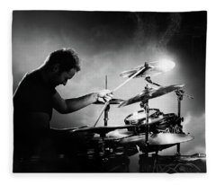 The Drummer Fleece Blanket