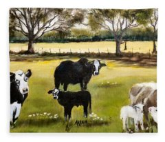 The Farm Fleece Blanket