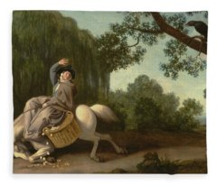 The Farmer's Wife And The Raven Fleece Blanket