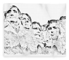 The Four Presidents Fleece Blanket