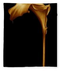 The Golden Calla Lilly Fleece Blanket