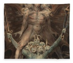 The Great Red Dragon And The Beast From The Sea Fleece Blanket