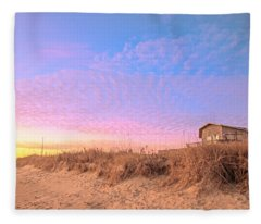 The House On The Beach Fleece Blanket