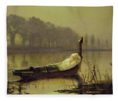 The Lady Of Shalott Fleece Blanket