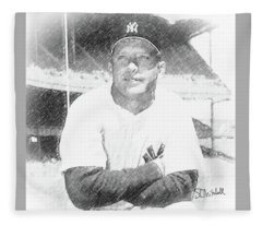 Mickey Mantle Fleece Blanket