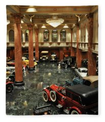 Grand Salon At The Nethercutt Fleece Blanket