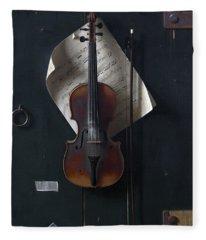 The Old Violin Fleece Blanket