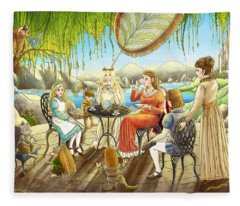 The Palace Garden Tea Party Fleece Blanket