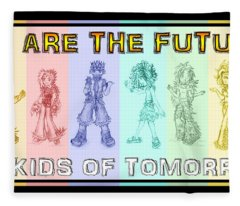 Fleece Blanket featuring the drawing The Proud Kids Of Tomorrow 3 by Shawn Dall