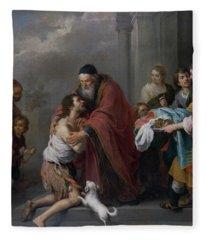 The Return Of The Prodigal Son Fleece Blanket