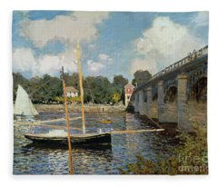 The Seine At Argenteuil Fleece Blanket