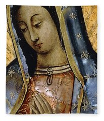 The Virgin Of The Guadaloupe Fleece Blanket