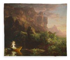 The Voyage Of Life, Childhood Fleece Blanket
