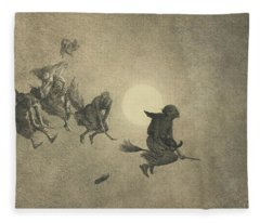 The Witches' Ride Fleece Blanket