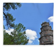 Thien Mu Pagoda Fleece Blanket