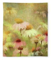Thoughts Of Flowers Fleece Blanket