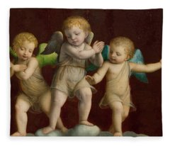 Three Cherubs Fleece Blanket
