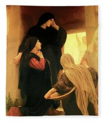 Three Marys At The Tomb Fleece Blanket