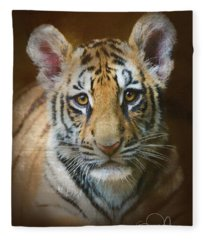 Tiger Cub Fleece Blanket