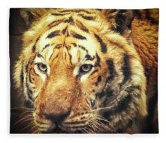 Tiger Portrait Fleece Blanket