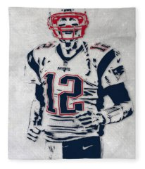 Tom Brady New England Patriots Pixel Art 5 Fleece Blanket