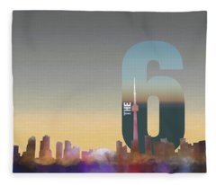 Toronto Skyline - The Six Fleece Blanket