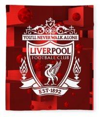 Tribute To Liverpool 3 Fleece Blanket