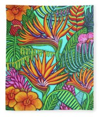 Tropical Gems Fleece Blanket
